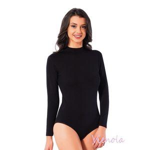 2er Damen body Langarm Stretch Body Langarmshirt Rollishirt Stehkragen 300 Größe M Farbe Schwarz
