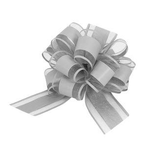 Oblique Unique Geschenkschleife Deko Schleife für Geschenke Tüten Zuckertüte Weihnachten Geschenkdeko - grau
