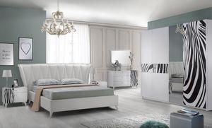 Schlafzimmer Komplett  Set Savana 6-Teilig in Weiss 180 x 200 cm