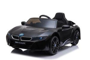 "Kinder Elektroauto, Kinderfahrzeug ""BMW I8"" - lizenziert - 12V - 2,4Ghz Ferngsteuert, MP3, Ledersitz+EVA-Schwarz"