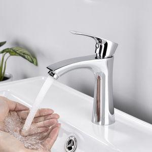 Bad Kaltwasser Standventil Armatur Wasserhahn chrom Badarmaturen mit Anschlussschlauch Waschtischarmatur für Badzimmer