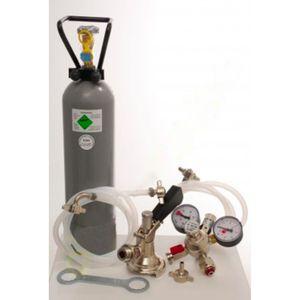 Zubehörpaket für Kontakt 2-leitig mit 2x Flach Fitting und 2 kg Co2 Flasche