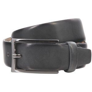 LINDENMANN G.CHABROLLE Gürtel Herren Vollledergürtel aus Vollrindleder, 35 mm breit und 3,8 mm stark, kürzbar, Gürtel, Ledergürtel, Klassik-Gürtel, grau, Farbe / Color:grau, Size US / EU:Waist Size 41.5 IN  XL EU 105 cm