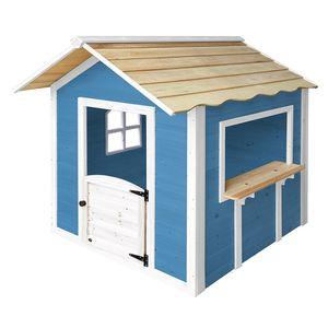 HOME DELUXE - Spielhaus Der große Palast / Blau ohne Bank KinderSpielhaus  Gartenhaus Holzhaus