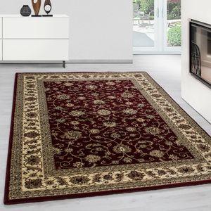 Teppich Orientteppich Wohnzimmer Klassische Optik Orientalisch Ornamente Rot, Farbe:ROT,80 cm x 150 cm