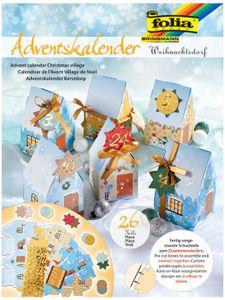 "folia Adventskalender ""Weihnachtsdorf"" 24 Blatt"