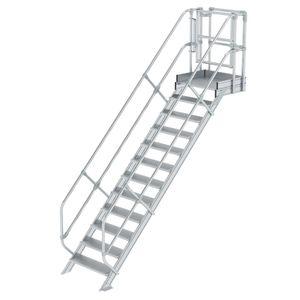 Günzburger Steigtechnik Treppen-Modul Aluminium geriffelt 12 Stufen