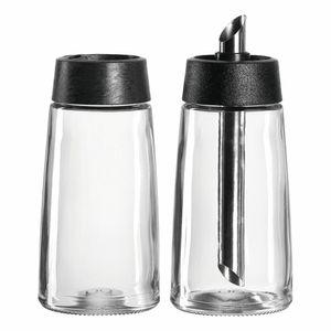 Montana 057228, Glas, Schwarz, Transparent, Rund