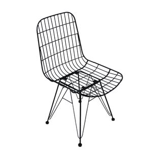 animal-design Metallstuhl STRONG Esszimmerstuhl Retro Küchenstuhl Bistro, Farbe:schwarz