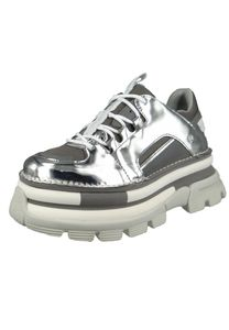 Art 1640T Core 2 Damen Leder Plateau Sneaker Mirror Silber, Groesse:36 EU