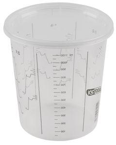 KS TOOLS Einweg-Farbmischbecher mit Deckel, 1300 ml, 25-Pack