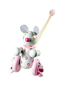 Mousehouse - Traditionelles Maus-Schiebespielzeug aus Holz - ideal für Kinder