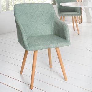 Retro Design Stuhl SCANDINAVIA MEISTERSTÜCK grün mit Armlehne Esszimmerstuhl Armlehnstuhl