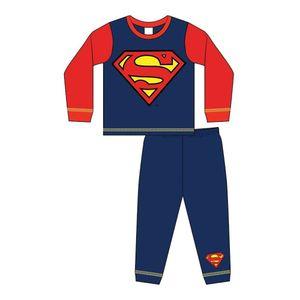 Superman Jungen Schlafanzug mit Logo 567 (98) (Rot/Blau)