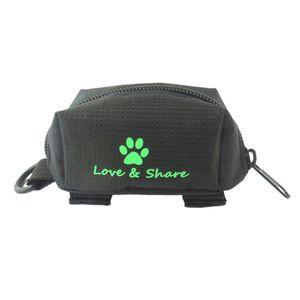 Hundekotbeutelspender Hund Kotbeutelspender Kotbeutel Aufbewahrungstasche mit Klettverschluss und D-Ring Farbe Schwarz
