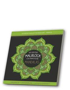 Malblock für Erwachsene mit CD: Mandalas