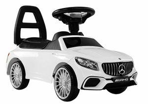 Mercedes S65 AMG Kinder Rutschauto Batteriebetrieben Sound Weiß