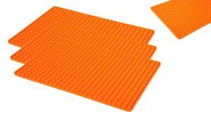 3 Stück Backunterlage Backpapier Teigmatte Backmatte Teigunterlage Ausrollmatte