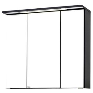 Bologna 3D-Spiegelschrank,graphitgrau, LED-Einbauleuchte