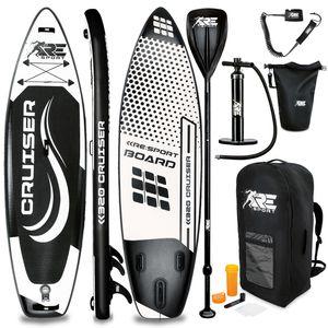 RE:SPORT® SUP Board 320cm Schwarz aufblasbar Stand Up Paddle Set Surfboard Paddling Premium