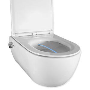 Dusch WC Harmony N3 spülrandlos, antibakteriell, Mischarmatur, verdeckte Montage, Edelstahldüse, Bidefunktion, WC-Deckel