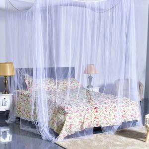 NEUFU Moskitonetz Doppelbett 190x210x240cm mit 4 Aufhängepunkten,Mückennetz Bett für Doppelbett Weiß