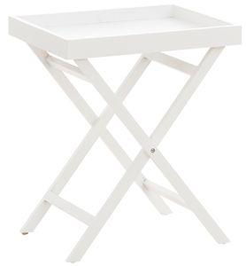 CLP Beistelltisch Simone mit Tablett Holz, Farbe:weiß