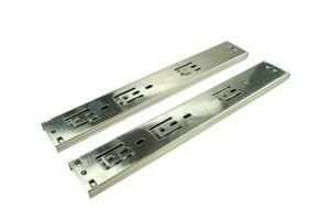 2 x SOFT-CLOSE Schubladenschienen Vollauszug Schubladenauszug Stahl Verzinkt 35 x 500 mm Teleskopschienen