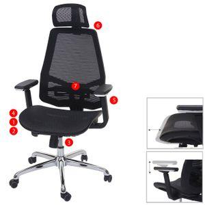 Bürostuhl HWC-A58, Schreibtischstuhl, Sliding-Funktion Stoff/Textil ISO9001  schwarz/schwarz