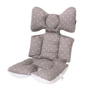 Kinderwagen Einlage Auflage Sitzkissen Baby Sitzauflage für Baby Kinderbett 60x40cm Grau Kinderwagen Kissen