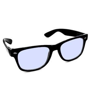 Blaulichtfilter Bildschirmbrille Ohne Stärke Schwarz Blaufilterbrille Gamingbrille Blaufilter PC Bildschirm Monitor Brille Damen Herren Bürobrille Arbeitsplatzbrille
