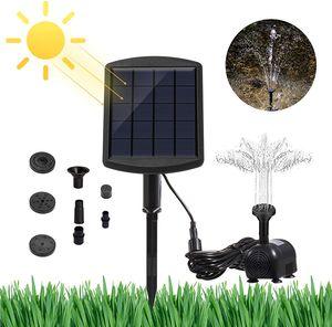 LED Wasserspiel Solarpumpe mit Akku Springbrunnen Gartenbrunnen Teichpumpe Solar Teich Pumpe Fontäne Garten Wasserspiel Brunnen