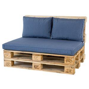 Madison Palettenkissen - Palettenkissensatz Lounge Blau – 3-teilig