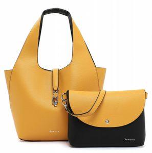Tamaris Schultertasche Handtasche  Cordula Cityshopper 31130 Gelb 499 yellow/black Kunstleder L= 30 cm H= 30 cm W= 17 cm, Groesse:OneSize
