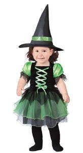 Baby Hexe mit Tüll Kostüm für Kinder Gr. 74/80, Größe:74/80