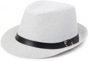 styleBREAKER Trilby Hut, leichter Papierhut mit schwarzem Gürtel Zierband, Unisex 04025003, Farbe:Hellgrün