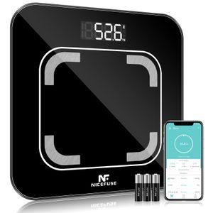 Körperfettwaage mit App Smart Bluetooth Digitale Personenwaage, NICEFUSE Körperwaage für iOS & Android