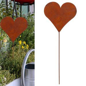 Gartenstecker Herz im Rost Design, 80cm