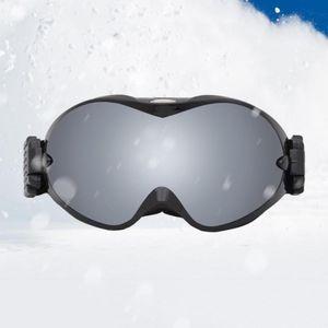 Ski brille doppels ch ichten anti-nebel adult winter snowboard ski brille Farbe Schwarzer Rahmen Silberlinse