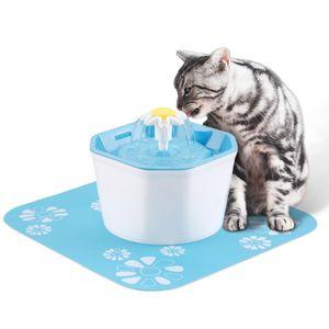 Trinkbrunnen 1.6L automatische Wasserspender Wasserbrunnen für Katze und Hunde