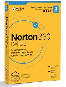 Norton 360 Deluxe - Generic (3 Geräte | 1 Jahr) (Code-in-a-Box) - CD-ROM-Eurobox