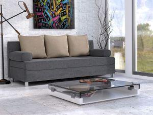Mirjan24 Schlafsofa Dover mit Bettkasten und Schlaffunktion, Bettsofa, Couch vom Hersteller (Sofa ohne Polsterhocker, Farbe: Alova 36 + Alova 07)