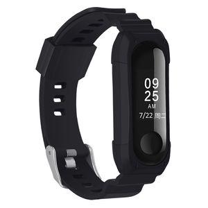 PINHEN Uhrenarmbänder kompatibel mit Xiaomi Mi Band 4 / Mi Band 3, Silikon, für Damen und Herren