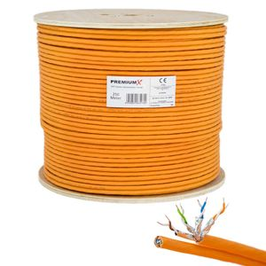 PremiumX 250m CAT 7 Netzwerkkabel Duplex LAN Kabel Ethernet Datenkabel Cat7