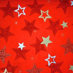 Geschenkpapier Sterne 70cm x 2m, Rolle