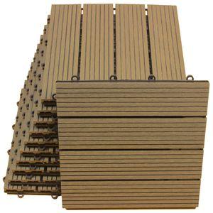 WPC Bodenfliesen 30 x 30cm braun standard 1 m²