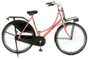 Amigo Eclypse - Cityräder für Damen 28 Zoll - Damenfahrrad geeignet ab 175-185 cm - Citybike mit Gepäckträger Vorne und Beleuchtung - Rosa/Schwarz