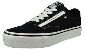 British Knights Damen Low Sneaker Mack Platform B47-3720-01 Schwarz  Black/White Textil, Groesse:37 EU