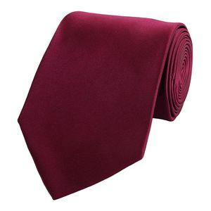 Schlips Krawatte Krawatten Binder 8cm dunkelrot rot weinrot uni Fabio Farini
