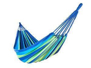 XXL-Hängematte aus Baumwolle | Flamenco Blau-Grün | 210x150 cm